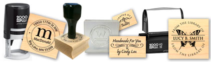 Custom Stamps, Self-Inking, Pre-Ink, Clear, Rubber, Art-Stamps